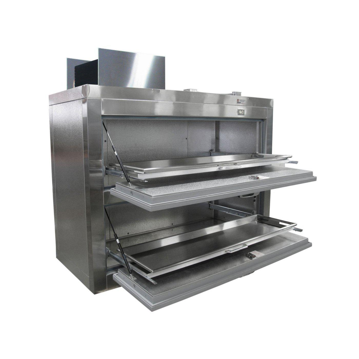 Two Body Side Acting Refrigerator-Refrigeration-Mortech Manufacturing Company Inc. Quality Stainless Steel Autopsy, Morgue, Funeral Home, Necropsy, Veterinary / Anatomy, Dissection Equipment and Accessories