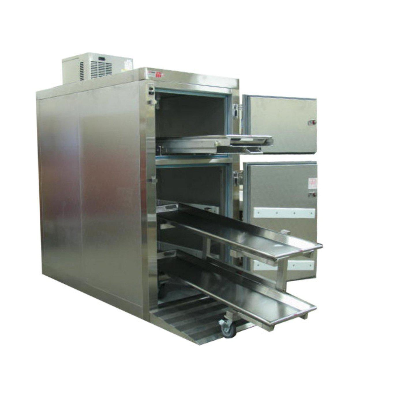 Two or Three Body Tiered Refrigerator-Refrigeration-Mortech Manufacturing Company Inc. Quality Stainless Steel Autopsy, Morgue, Funeral Home, Necropsy, Veterinary / Anatomy, Dissection Equipment and Accessories