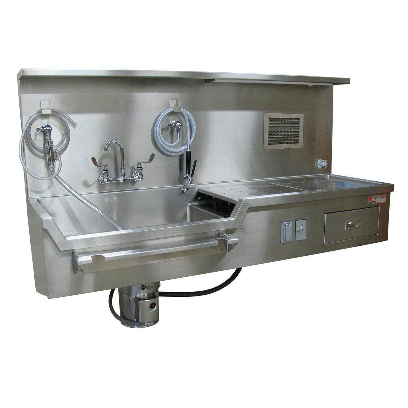 Wall Mount Autopsy Station Left Sink Mortech Manufacturing