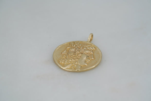 Hera and Zeus Coin Pendant