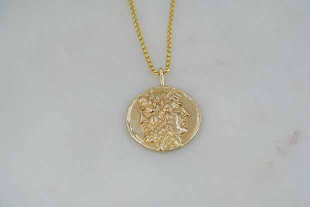 Hera and Zeus Coin Pendant - Albisia Jewelry