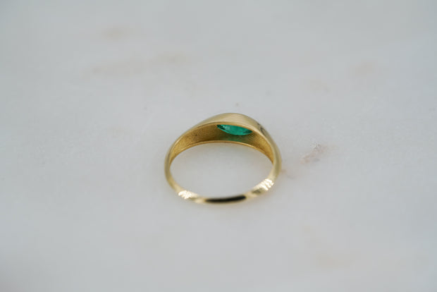 Marquise Cut Brazilian Emerald Ring