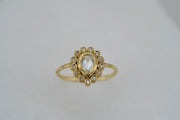 Diamond Halo Ring - Albisia Jewelry