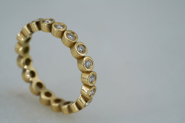 Eternity Diamond Band - Albisia Jewelry