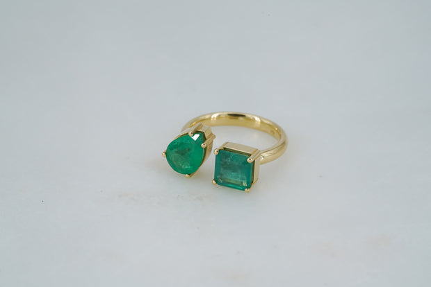 Two Emerald Ring