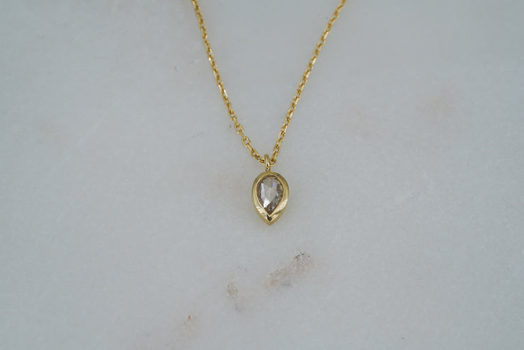 Pear Diamond Necklace - Albisia Jewelry