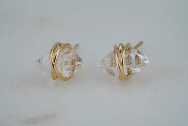 Herkimer Studs - 14K Gold Filled