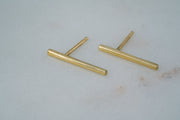 Fine Bar Studs - Long - Albisia Jewelry