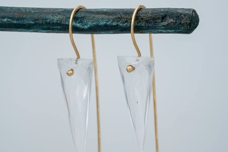 Spike Clear Quartz Earrings