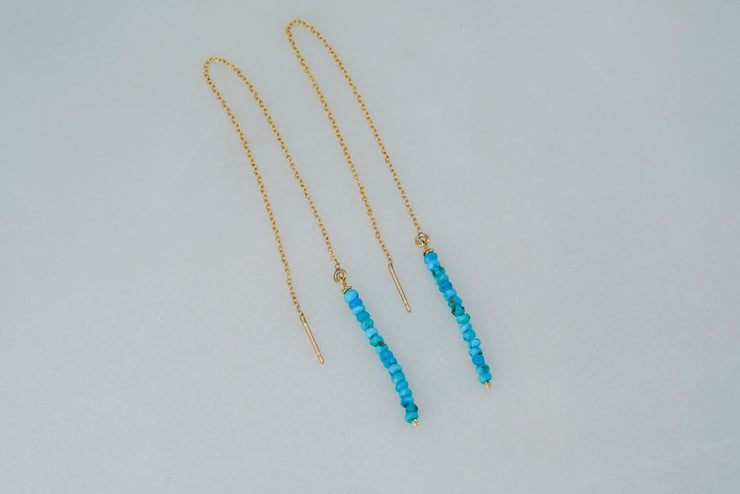 Long Turquoise Threaders