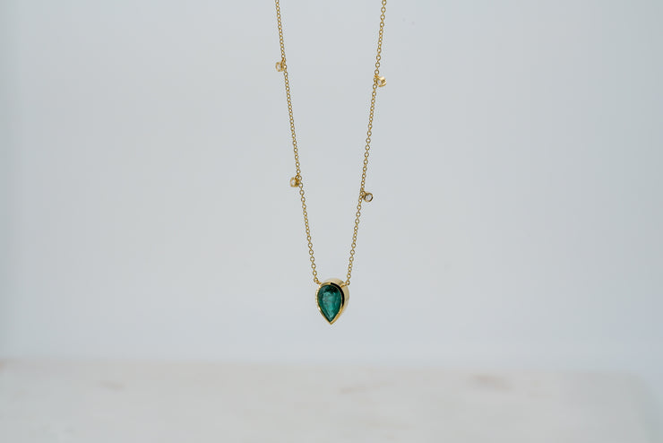 Colombian Emerald and Diamond Necklace