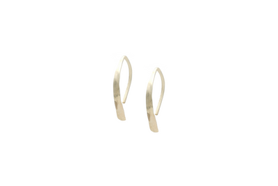 Feather Hoops - Albisia Jewelry