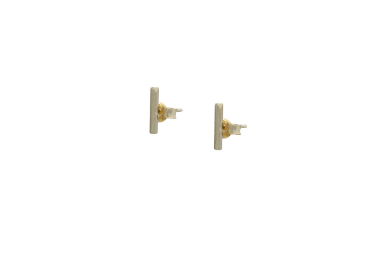 Fine Bar Studs - Short - Albisia Jewelry