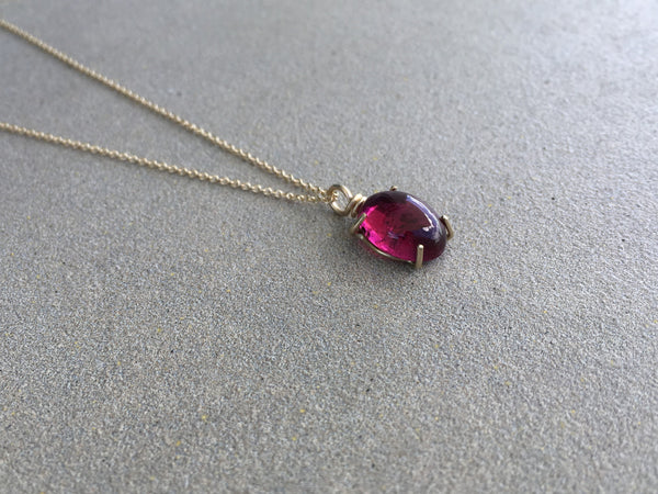 Tourmaline Prong Set Necklace