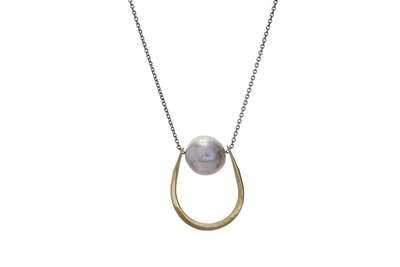 Lucky Mauve Necklace 2 Tone