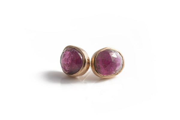 Tourmaline Studs - 14K Rose Gold
