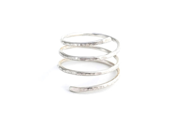 Spiral Ring - Sterling Silver - Albisia Jewelry