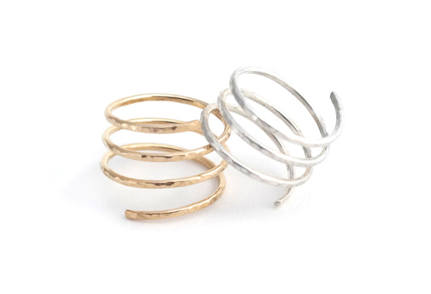 Spiral Ring - 14k Gold Filled - Albisia Jewelry