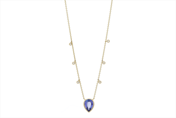 Tanzanite and Diamond Necklace - Albisia Jewelry