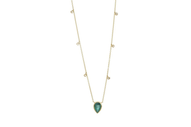 Colombian Emerald and Diamond Necklace - Albisia Jewelry