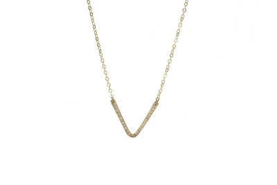 V Necklace - Albisia Jewelry