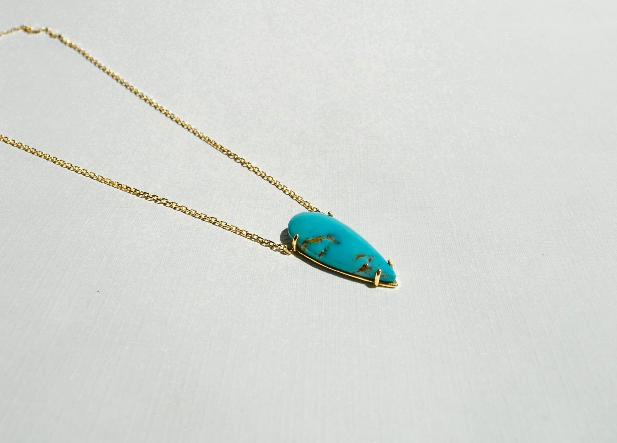 Pear Shape Turquoise -18K Gold, Tuquoise