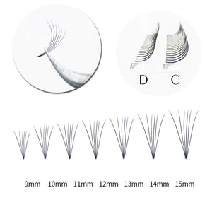 6D Pre-Made Fan Lashes