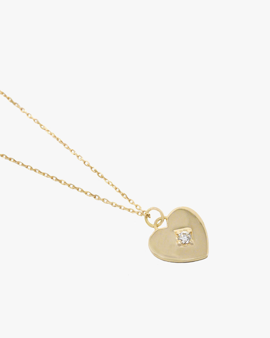 HAZEL DIAMOND HEART NECKLACE