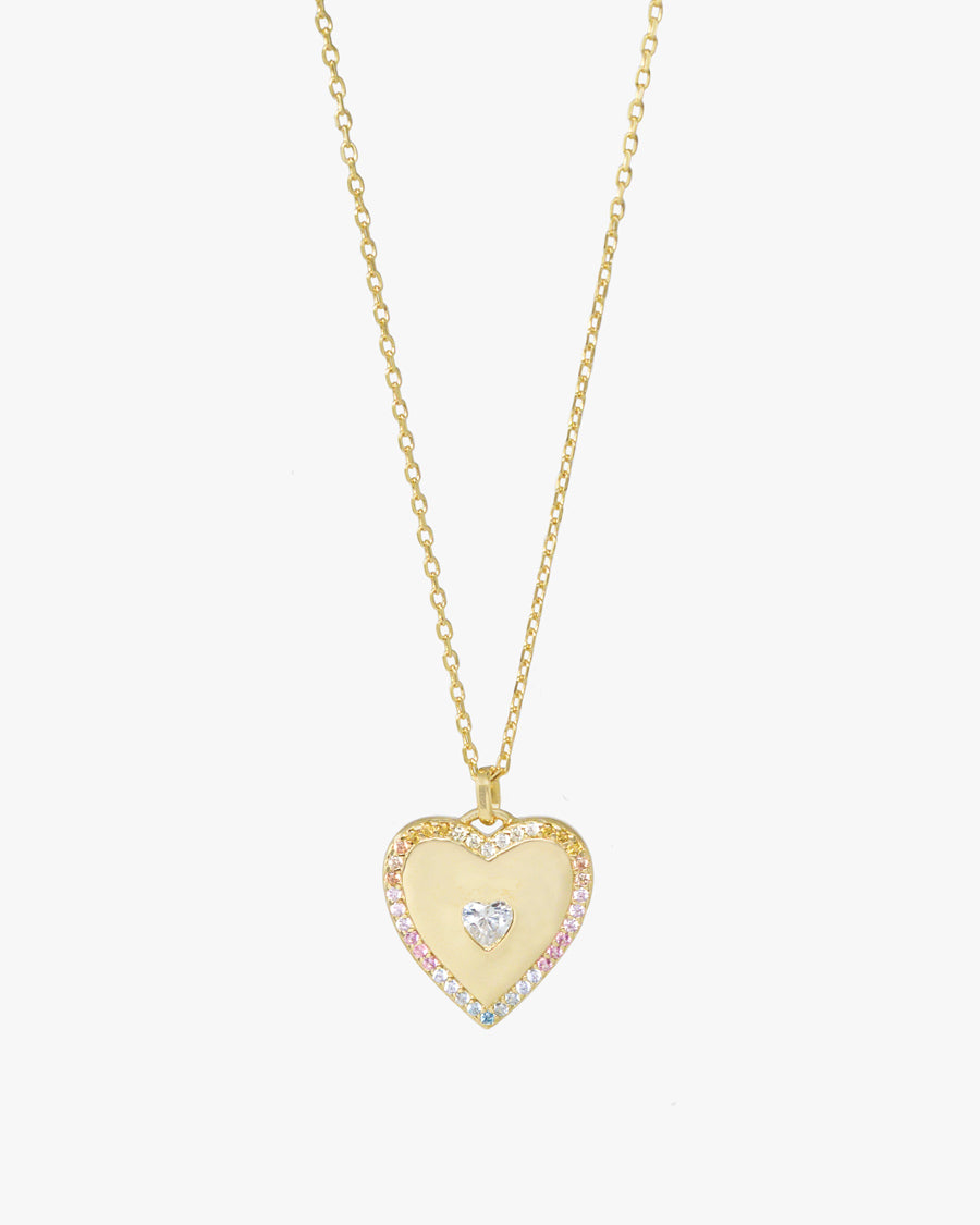 PHOEBE PASTEL HEART NECKLACE