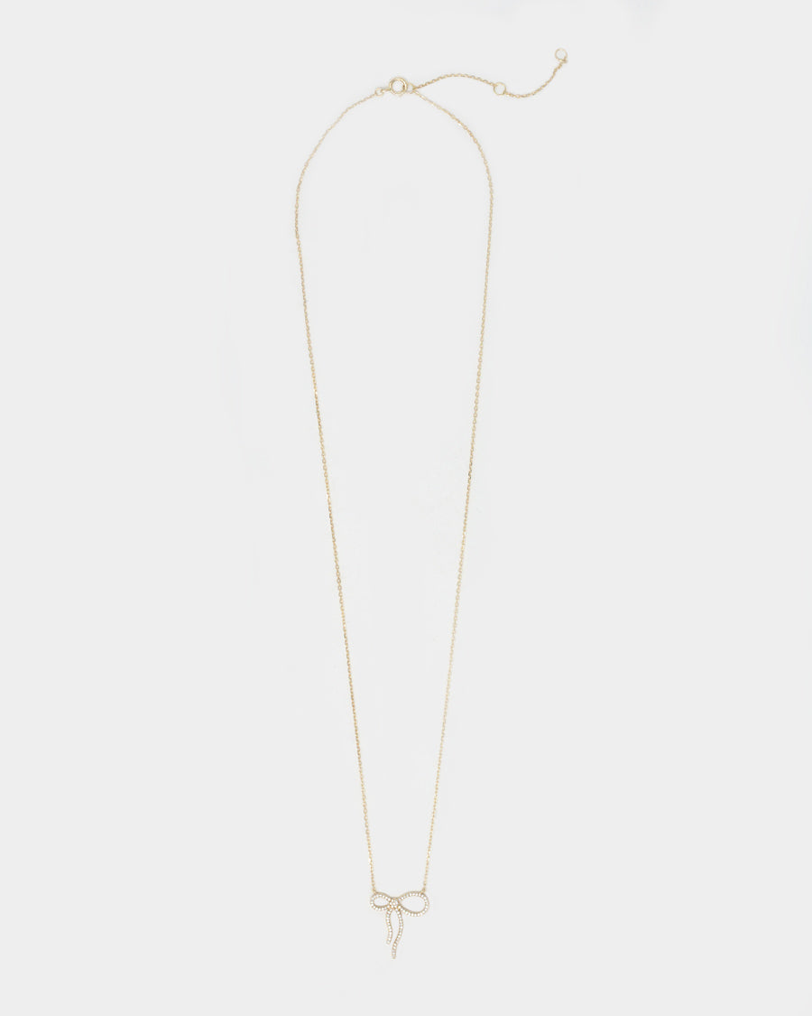 PRESIDIO DIAMOND BOW NECKLACE