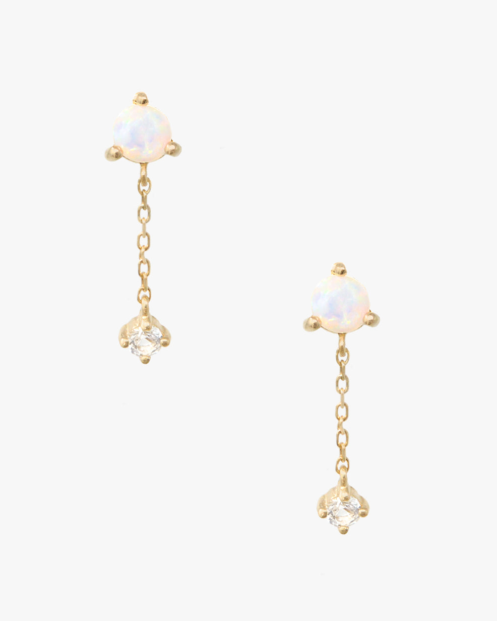 SHORELINE MINI OPAL DROP CHAIN STUDS