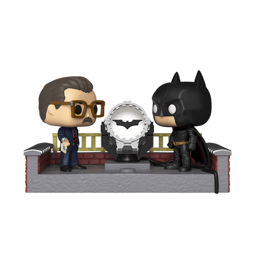 Batman y Commissioner Gordon con luz Movie Mome