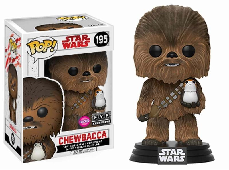 Chewbacca con Porg Flocked Funko POP! Nº 195 :