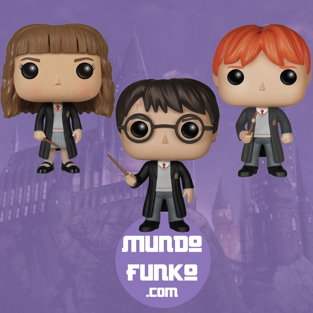 Pack Harry Potter, Hermione y Ron Funko POP!  -