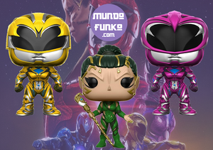 Power Rangers Amarillo, Rosa y Rita Funko POP!