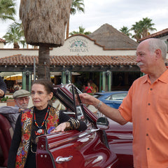 Margaret O'Brien arrives in Palm Springs