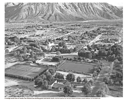 Vintage aerial view of Smoke Tree Ranch