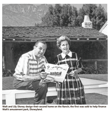Walt and Lily Disney desgin their second home at Smoke Tree Ranch