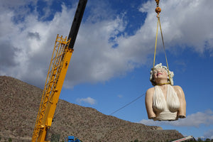Forever Marilyn lifted in sky