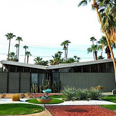 twin palms estates house butterfly roof