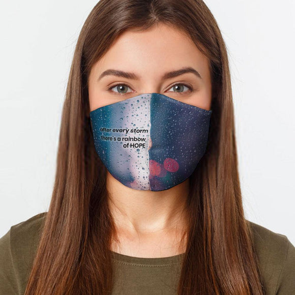 Rainbow of Hope Face Cover Mask Made In USA
