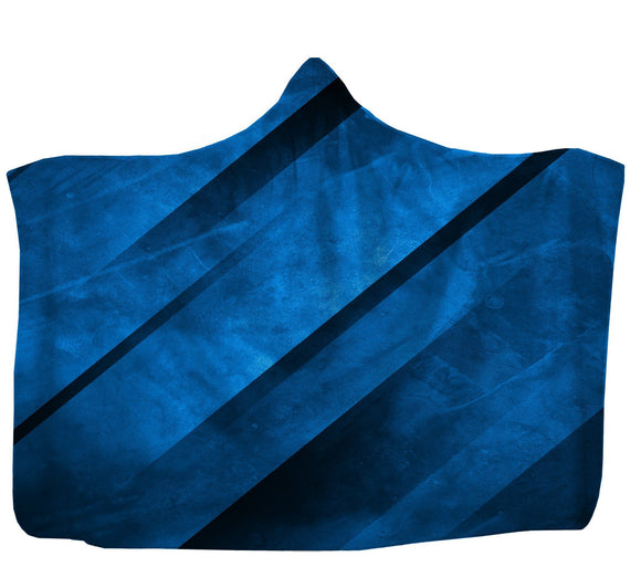 Blue Indented Hooded Blanket  Made In USA