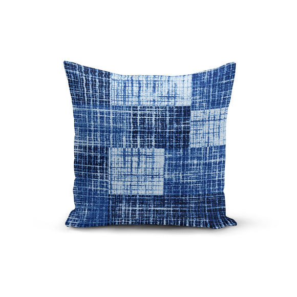 Blue Textured Pillow Cover