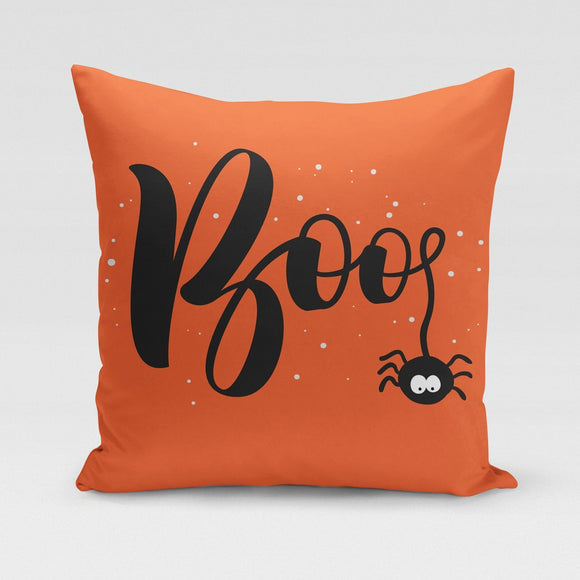 Boo Spider Pillow Cover