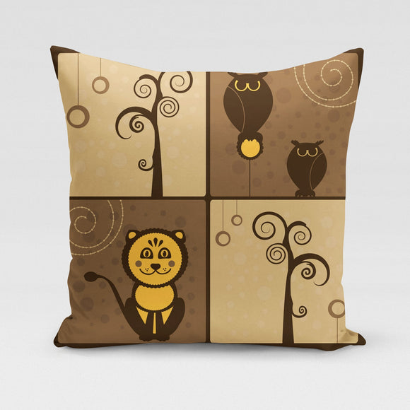 Brown Owl Pillow Cover