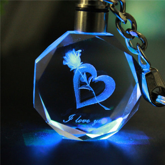 Artificial Crystal 3D Key Chain
