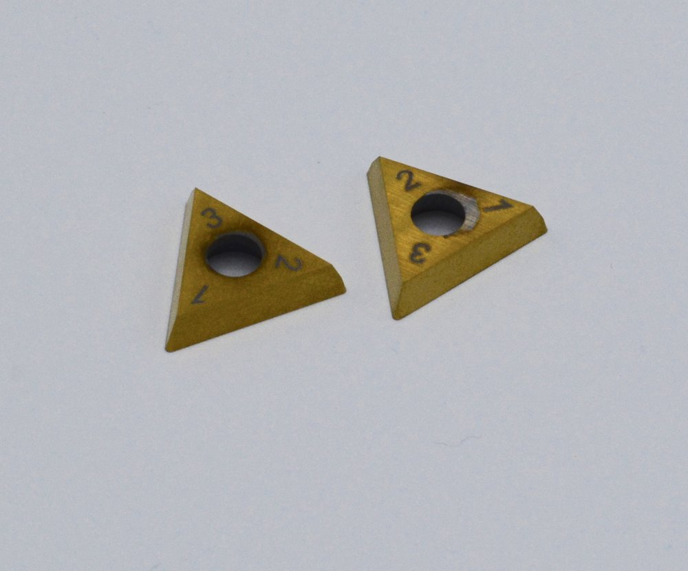 Carbide Inserts (2) for Cutter Heads