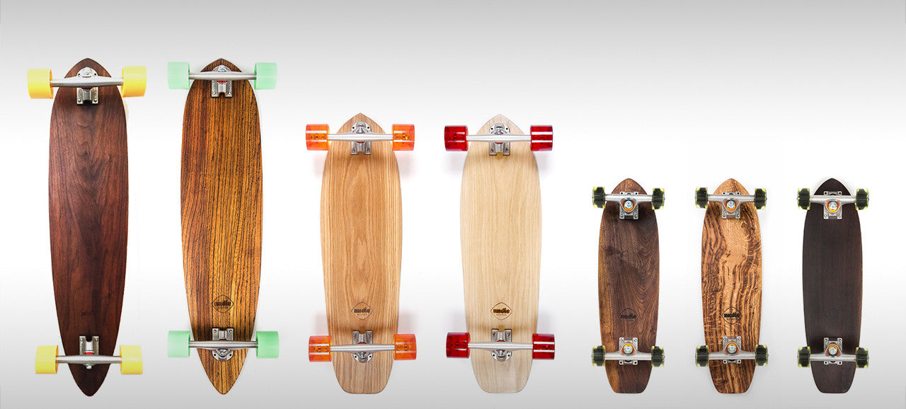Nudie Boards handmade solid wood custom longboard skateboard