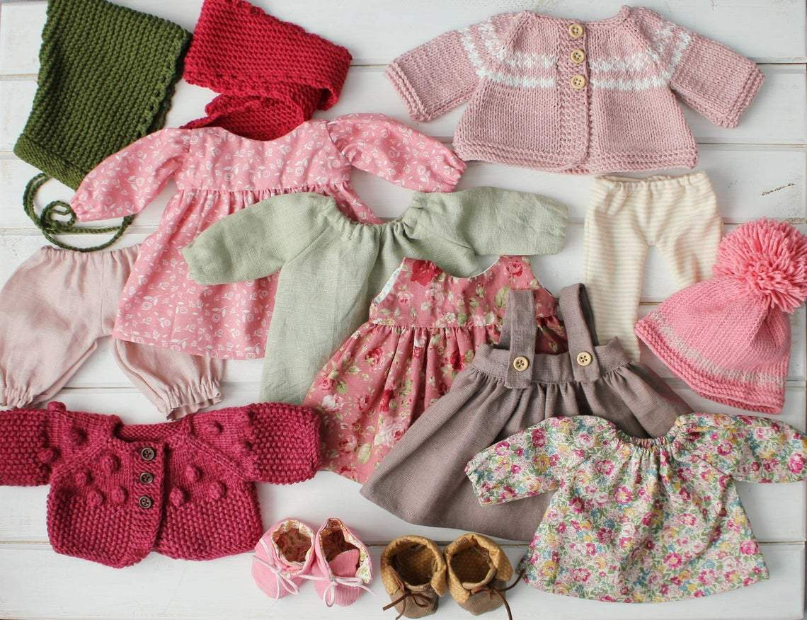 Waldorf doll with big set of clothes&box&baby doll👧[3 Sisters#2]👼