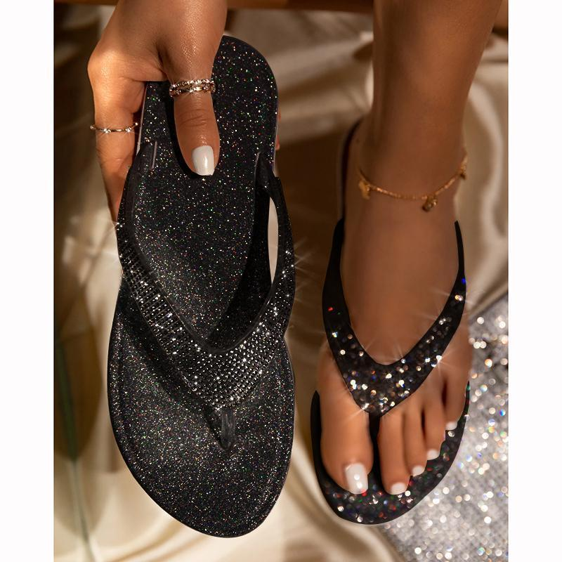 🔥Summer promotion Only $21.99🔥Buy 2 Get Free Shipping Women's Rhinestone Flat Slippers